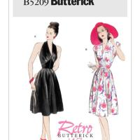 """Me Made: A """"Gertie Fabric"""" Blue Floral Daydream (+ Butterick B5209 review)"""