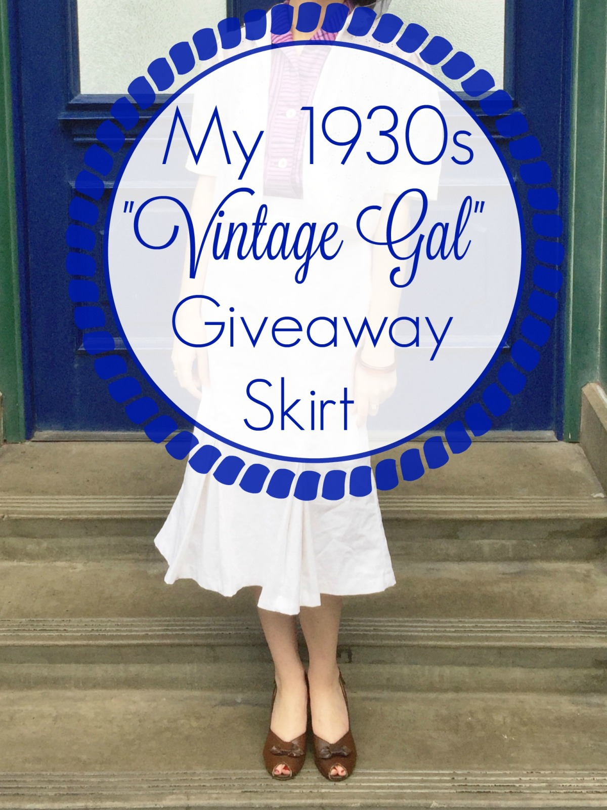 "Me Made: A 1930s ""Vintage Gal"" Giveaway Skirt 